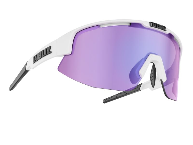 Bliz Matrix Sonnenbrille Matte White / Purple Multi